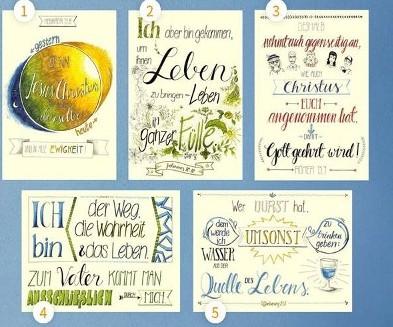 "Paket Poster ""Handlettering"" A3 - 5 Stk."
