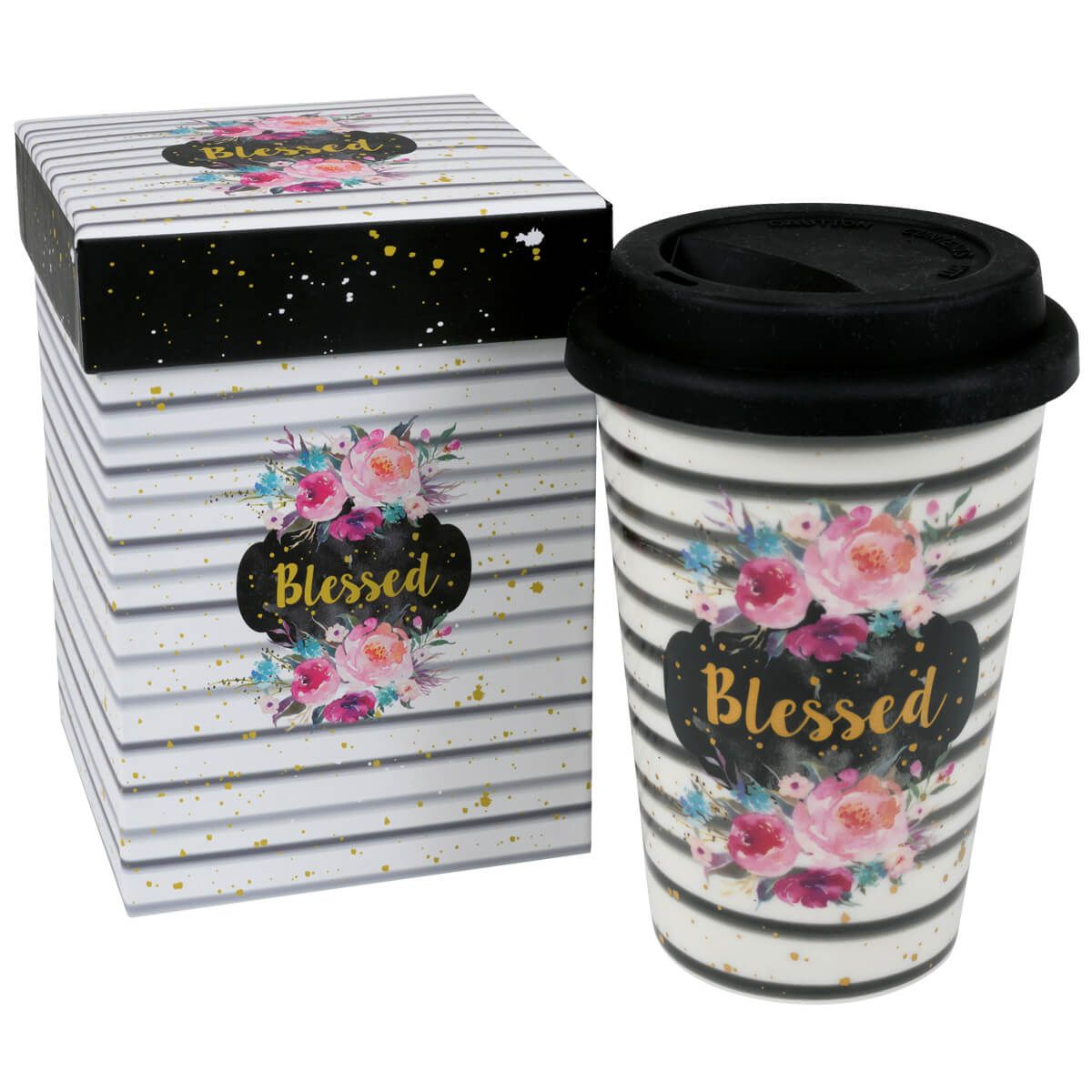 """Becher to go """"Blessed"""""""