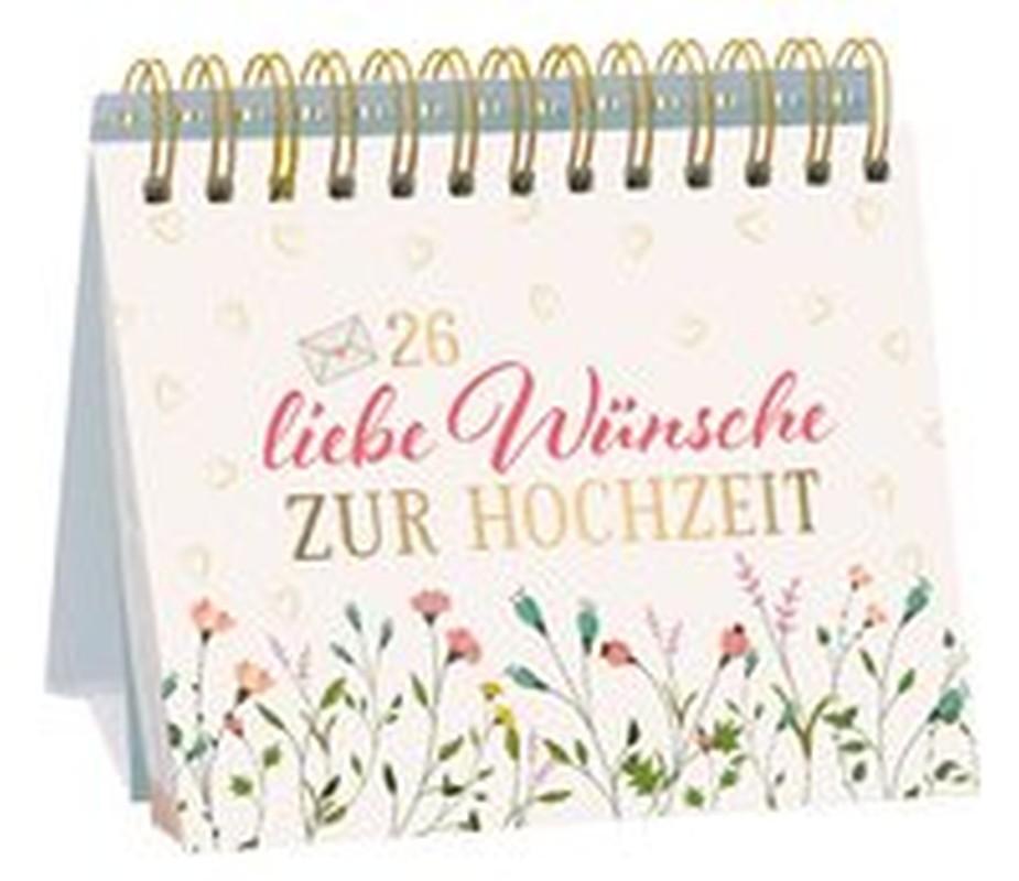 26 liebe Wünsche zur Hochzeit - Tischaufsteller