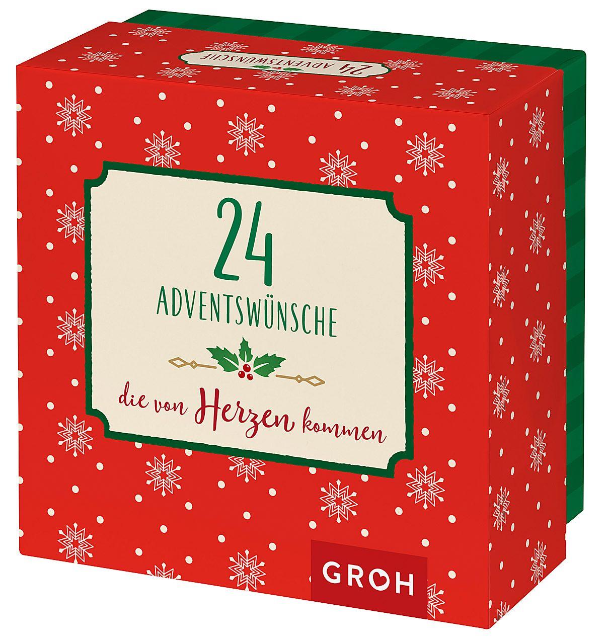 24 Adventswünsche, die von Herzen kommen - Zettelbox
