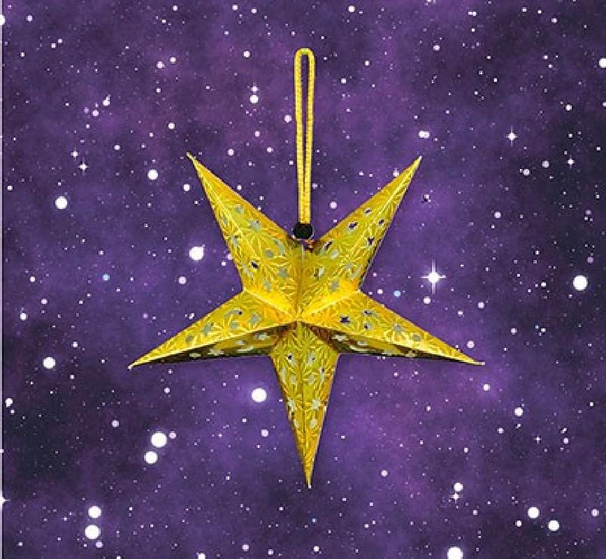 Advents-Stern LED klein - gelb