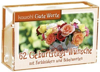 62 Geburtstags-Wünsche - Karten