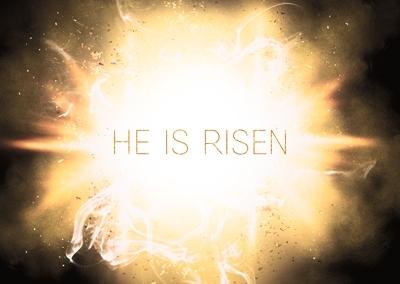 """Postkarten """"He Is Risen"""" - 5er Set"""