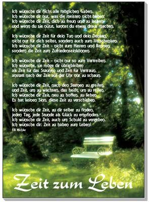 Poster A3: Zeit zum Leben