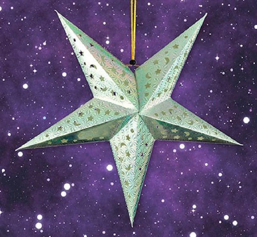 Advents-Stern LED groß - silber