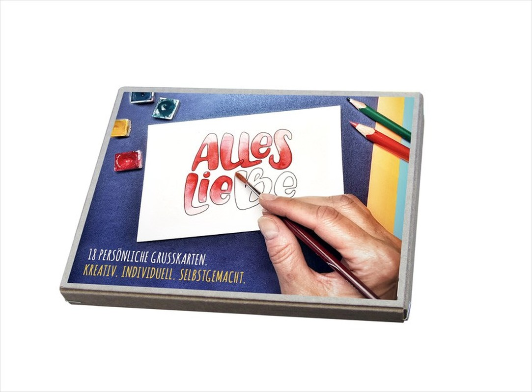 Alles Liebe - Postkartenbox