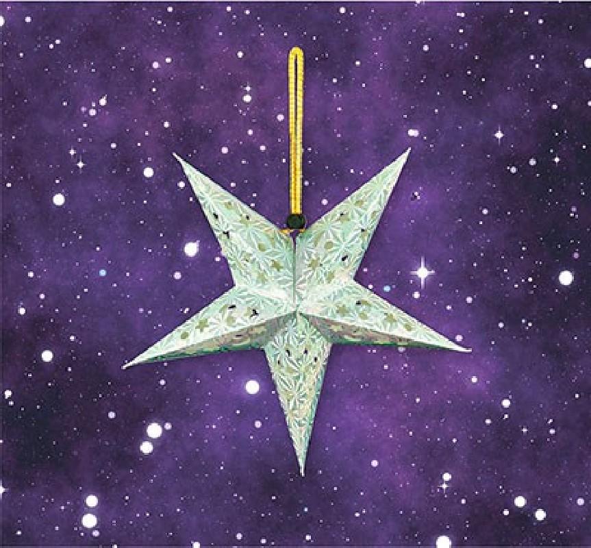 Advents-Stern LED klein - silber