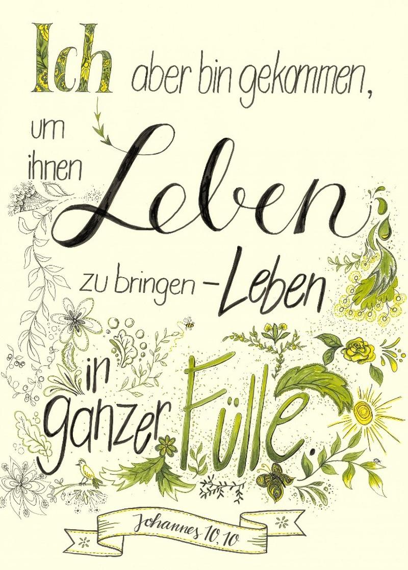 "Poster ""Leben in Fülle"" - A2"
