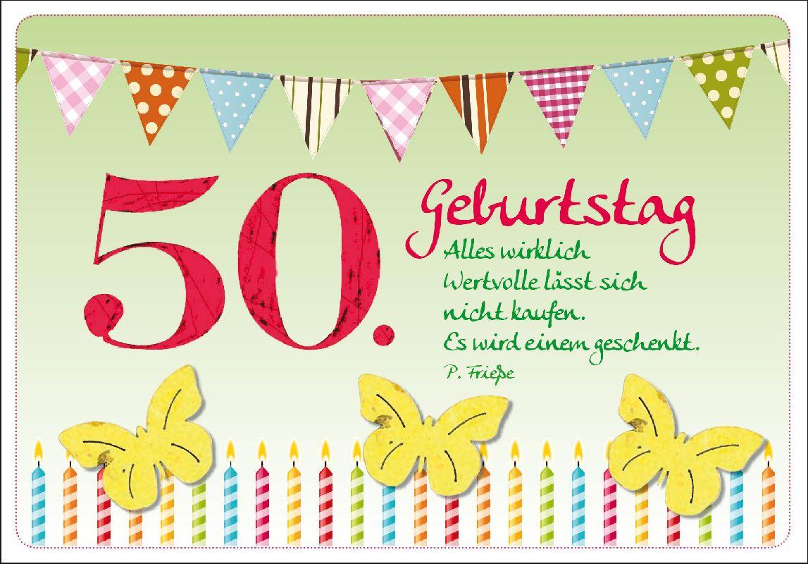 50. Geburtstag - Faltkarte