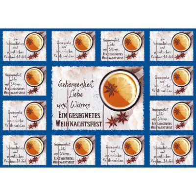 Aufkleber-Gruß-Karten: Ein gesegnetes Weihnachtsfest, 4 Stück