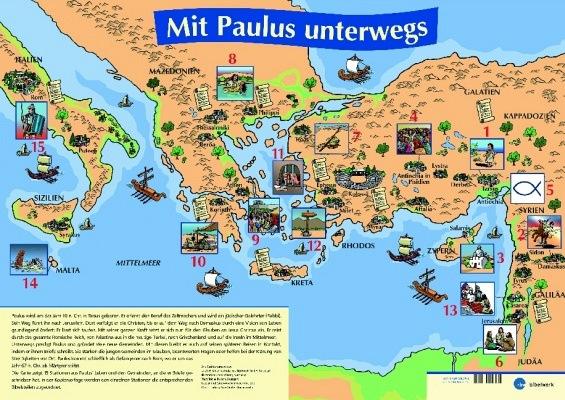 Mit Paulus unterwegs - Poster