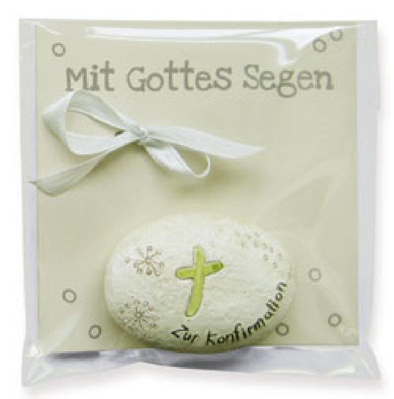 Geschenkstein - Konfirmation/Kreuz