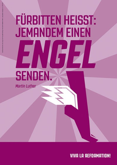 Poster A1 - Fürbitten heisst: jemanden einen Engel senden.