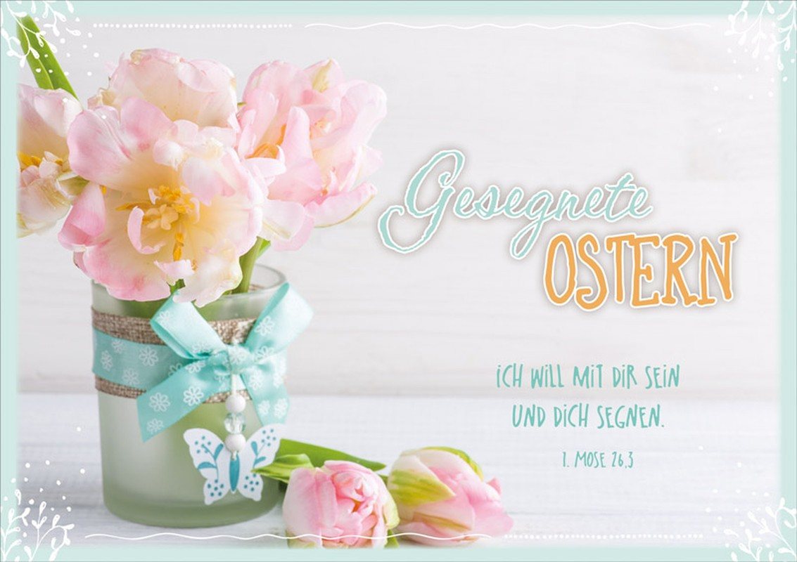 "Faltkarte ""Gesegnete Ostern"""