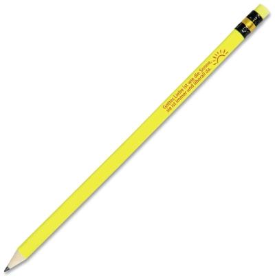 """Bleistift """"Gottes Liebe ist wie die Sonne ..."""" - 10er Pack"""