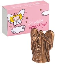 """Bronze-Engel """"Sei behütet liebes Kind"""" (für Mädchen)"""