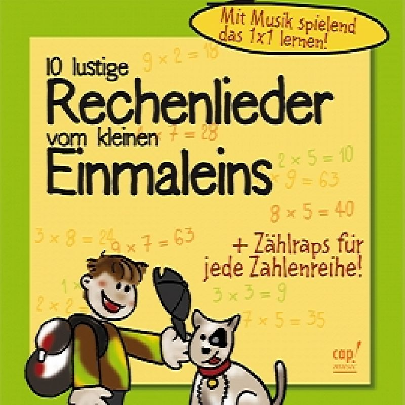 10 lustige Rechenlieder vom kleinen Einmaleins -Playback-CD