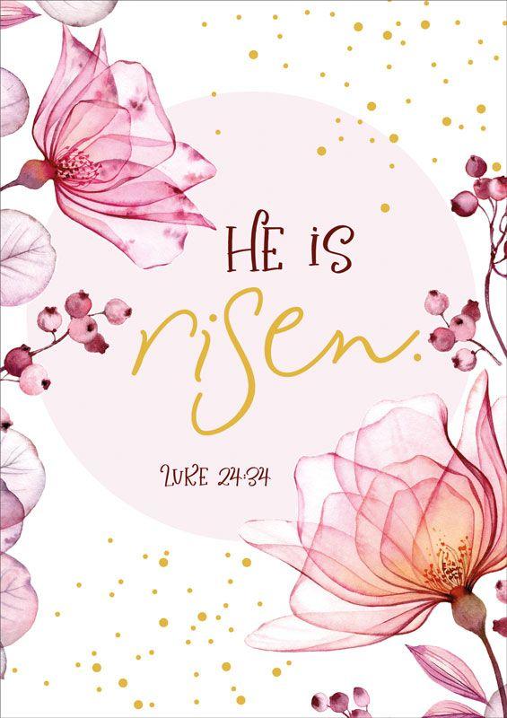 """Faltkarte """"He is risen"""""""