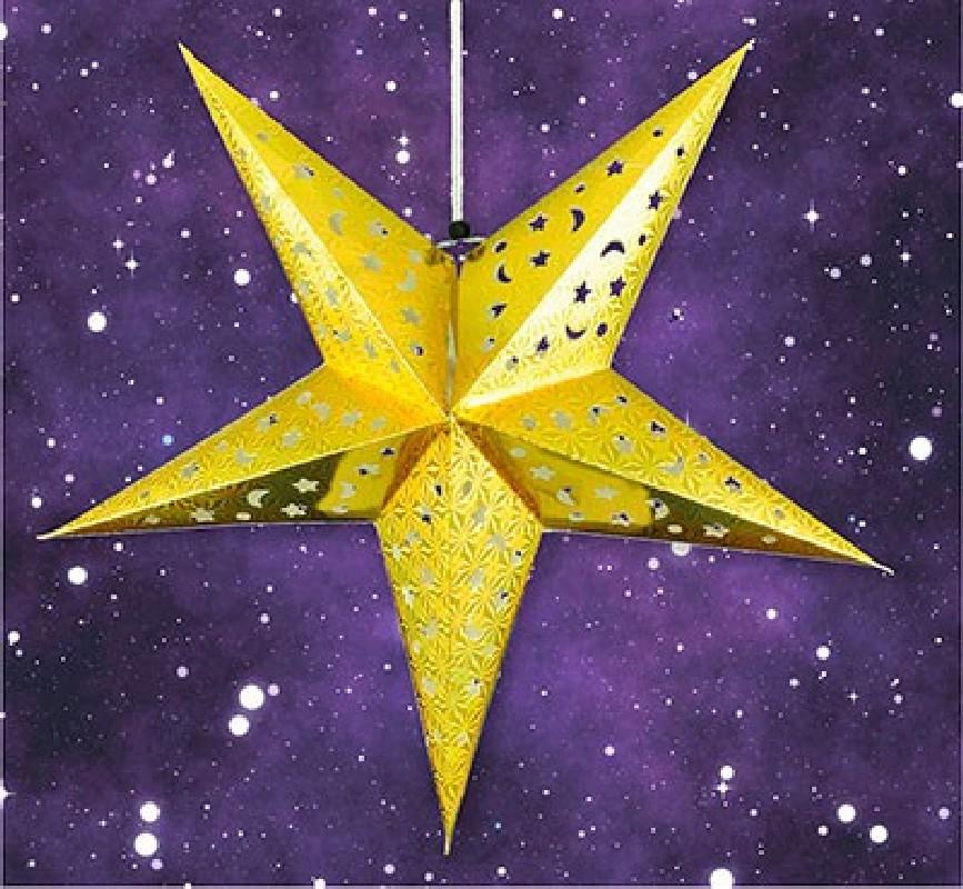 Advents-Stern LED groß - gelb